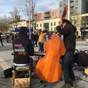 Snazzback, street band, music, playing, Bristol, FindYourOwnLight, Travel